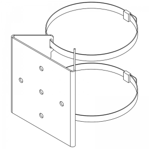 PBC-1-SPX - Pole Mounting Kit suitable for SPARTAN Flood, Up to FL24, Fixings Provided