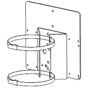 PBC-1-PSU-1 - Pole Mount Bracket for 1 x Illuminator + 1 x PSU for RM / RL 25, 50, 100 and 200 series only